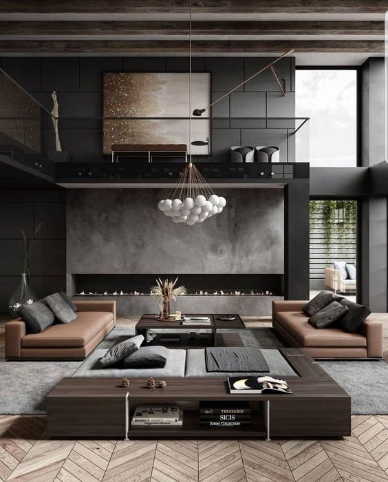 modern industrial living room