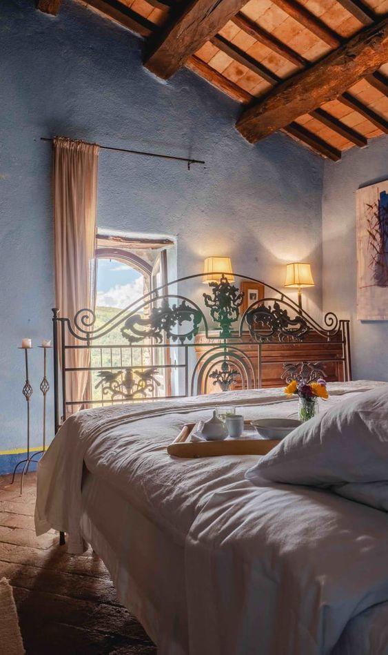 blue italian-bedroom