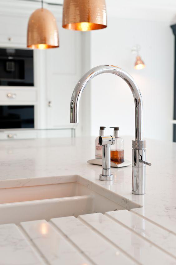 hot water taps kitchen decor