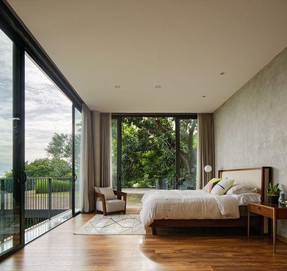 modern second floor bedroom