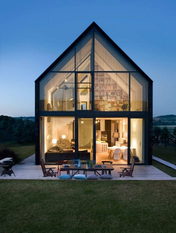 small modern house two-story