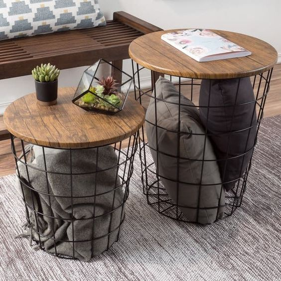 simple coffee table with storage