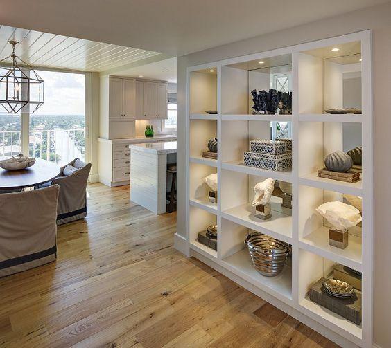 the built-in shelves