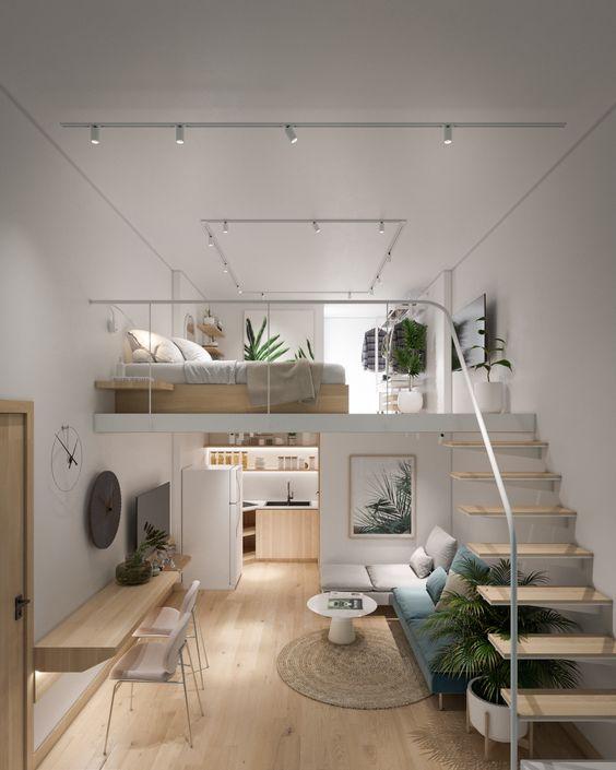 comfortable loft bedroom