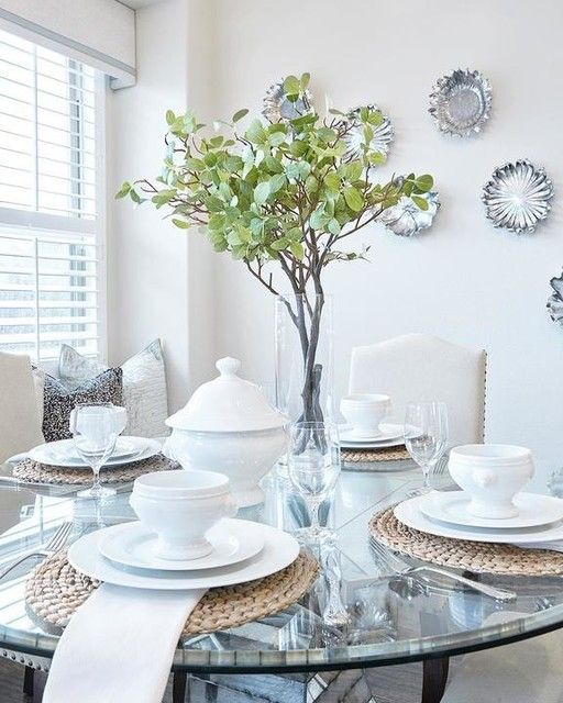 dining table plant decor