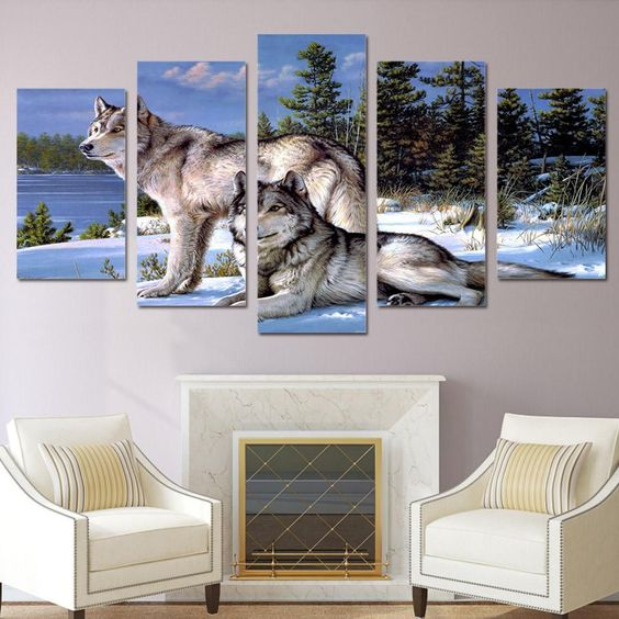 5 Panel Canvas Art HD Printed