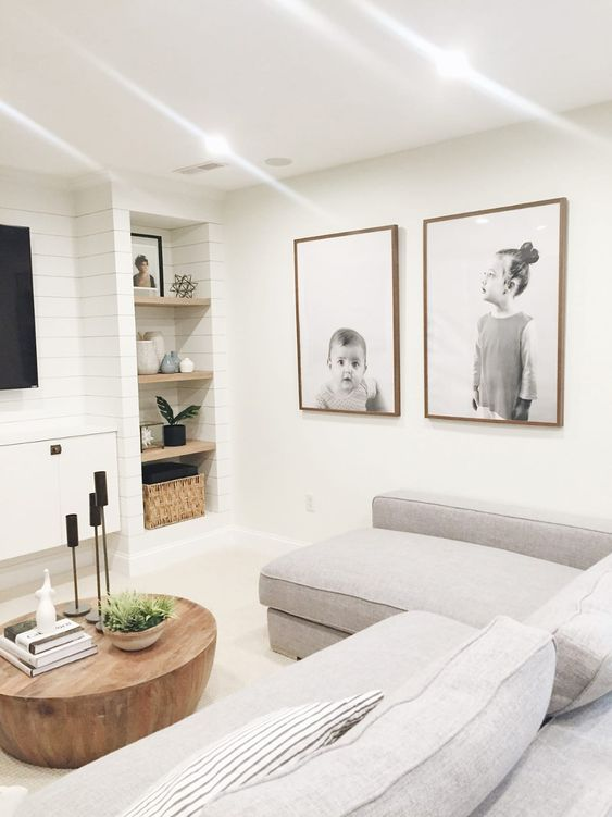 scandinavian family room