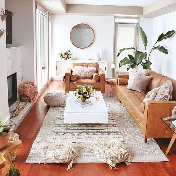 bohemian small living room