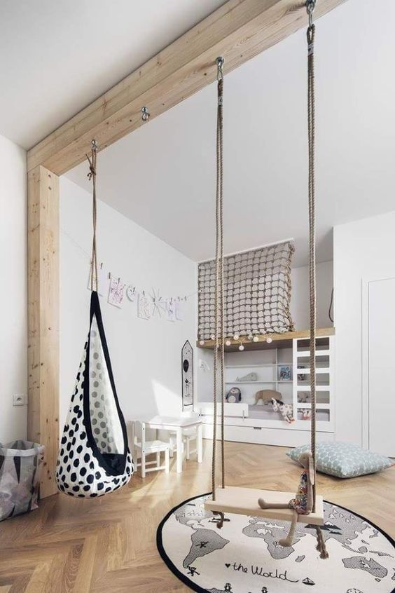 swing in the kids' bedroom