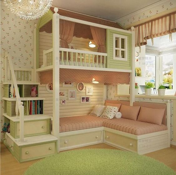 stair bed kid bedroom