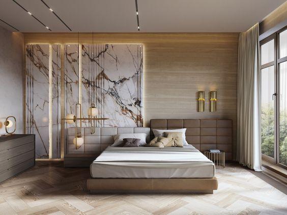 luxury minimalist bedroom